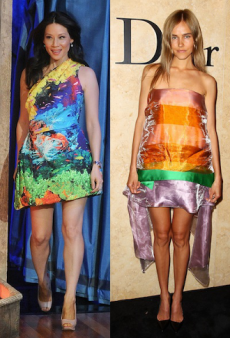 Seeing Double: Lucy Liu and Isabel Lucas Make a Double Rainbow and Other Matching Celebs