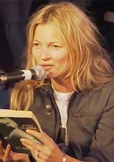 Watch Kate Moss Read 'Fifty Shades of Grey' [Leftovers]