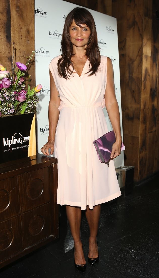Helena Christensen launching her new Kipling collaborative bag collection London