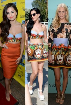 Seeing Double: Katy Perry, Selena Gomez and Poppy Delevingne Pass Around Dolce & Gabbana and More Matching Celebs
