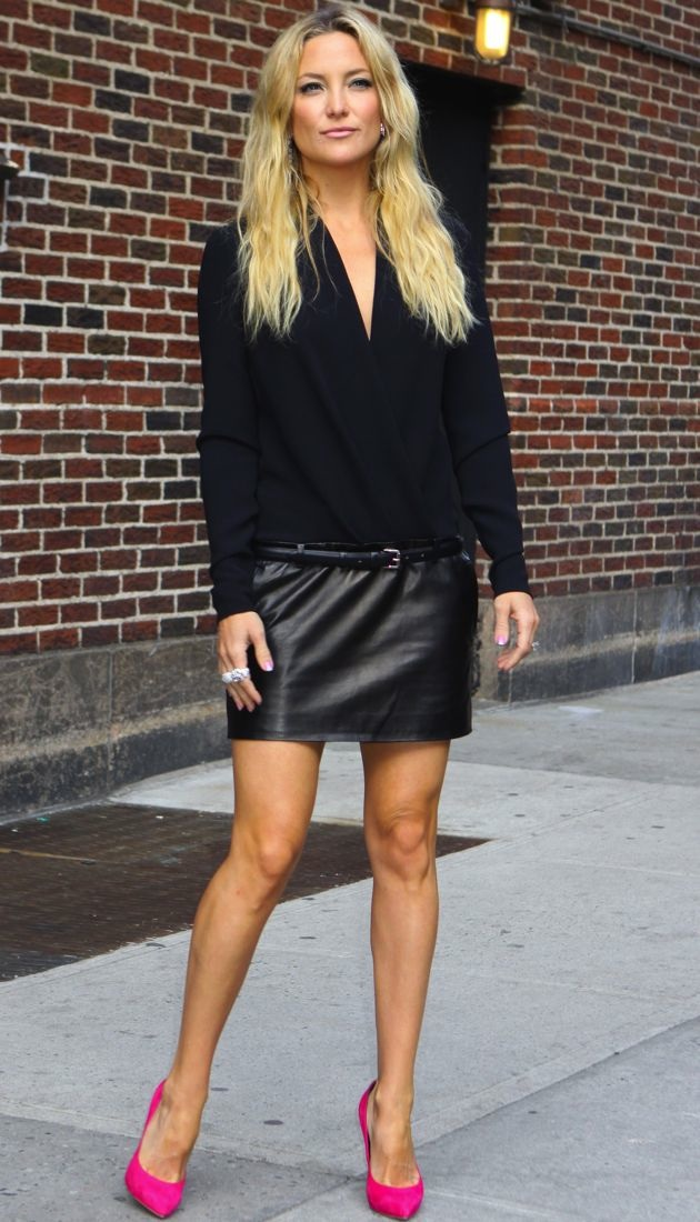 Look Of The Day Kate Hudson Visits David Letterman In
