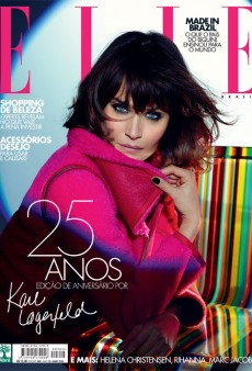 Helena Christensen Works the Cover of Elle Brazil's May Issue (Forum Buzz)