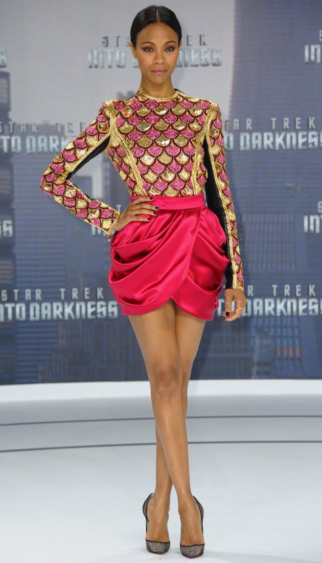 Zoe Saldana Star Trek Into Darkness Berlin Premiere