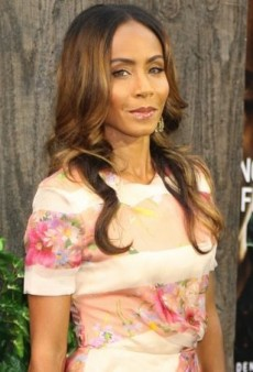 Jada Pinkett Smith Pairs a Pink Blumarine Dress with Azzedine Alaïa Suede and Stingray Sandals