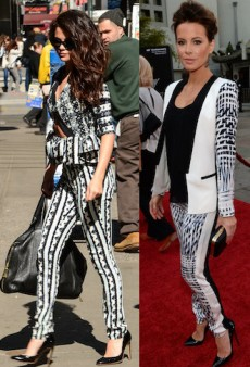 Seeing Double: Selena Gomez and Kate Beckinsale Are Prints Charming and More Matching Celebs