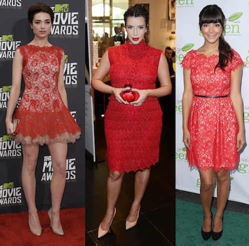 Be a Lady in Red in Hollywood's Dress-of-the-Moment - theFashionSpot