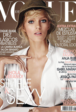 Vogue Spain June 2013 Fails to Excite with &#8216;Boring&#8217; Anja Rubik Cover (Forum Buzz)