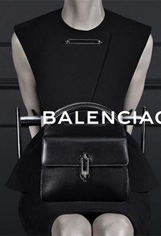 Kristen McMenamy Not Smizing in Second Balenciaga Fall 2013 Ad Image