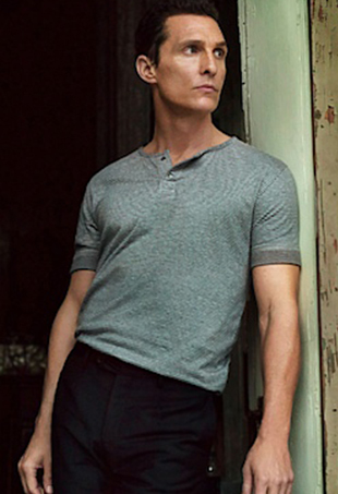 Matthew McConaughey poses in his JKL clothing line.