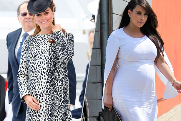 When it comes to maternity style, are you a Kate or a Kim?