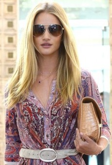 Rosie Huntington-Whiteley Visits the Salon in a Perfectly Paisley Isabel Marant Dress