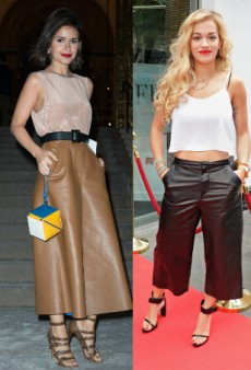 Seeing Double: Stars Love Leather Culottes… and More Matching Celebs