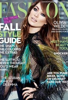 Olivia Wilde is Unrecognizable as a Human Person on Cover of Fashion Magazine