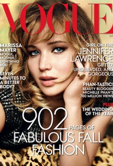 Here's US Vogue's September Issue Cover, With Jennifer Lawrence by Mario Testino