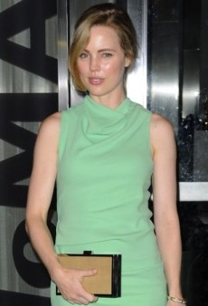 Melissa George Attends a Screening in a Cool Cowl Neck Calvin Klein Creation