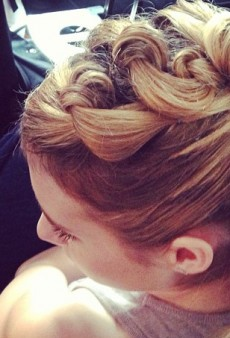 Emma Roberts' Intricate Updo and Other Celebrity Twitpics of the Week