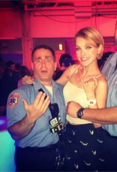 Jessica Stam Gets Down with NYC's Finest and Other Celeb Twitpics of the Week