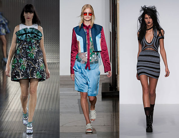 The Misses: Mary Katrantzou, Jonathan Saunders, Mark Fast. Images via IMAXtree
