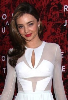 Miranda Kerr Watches Her Romeo on Opening Night in a Romantic J. Mendel Dress