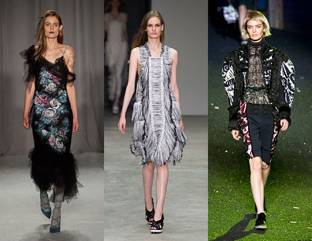 The Misses: Marchesa, Calvin Klein Collection, Marc Jacobs. Images via IMAXtree.