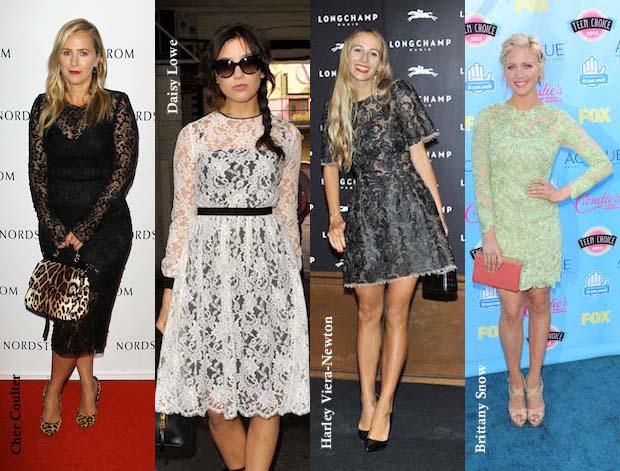 gtl lace dress celeb collage