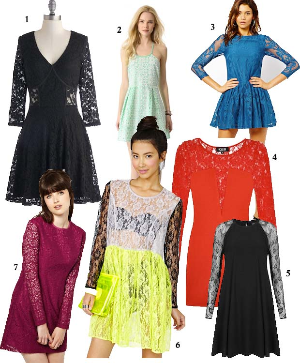 gtl lace dress product collage