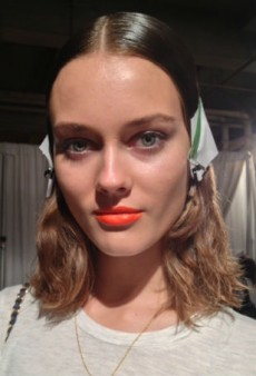 Rag & Bone Backstage Beauty: A World Cup-Inspired Orange Lip