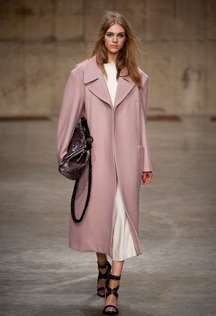 topshop unique Pink coat