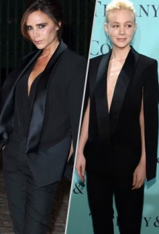 Victoria Beckham and Carey Mulligan Suit Up and More Matching Celebs
