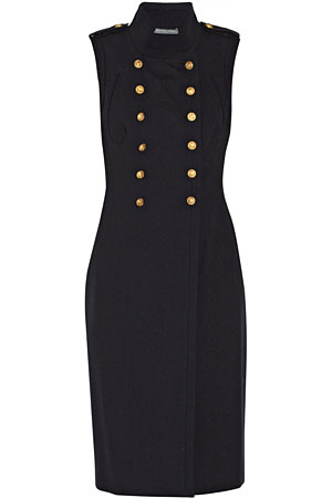Alexander-McQueen-black-button-dress