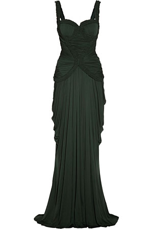 Alexander-McQueen-green-dress