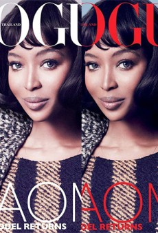 Vogue Thailand Explains Its Controversial November Cover: We Did Not Enhance Naomi Campbell's Looks In Any Way