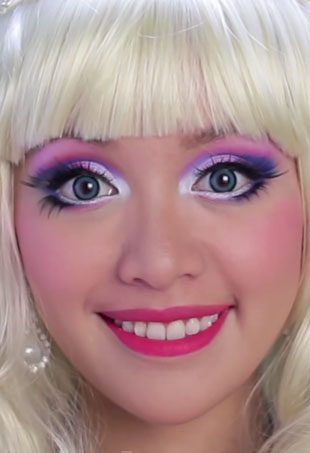 barbie makeup tutorial. barbie makeup tutorial