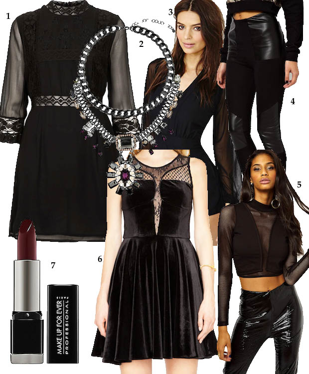 celeb gtl going goth clothes collage
