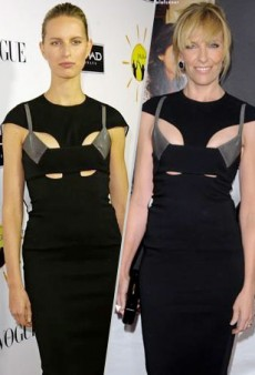 Seeing Double: Karolina Kurkova and Toni Collette Get Caught Up in Cut-Outs Courtesy of Esteban Cortazar and More Matching Celebs