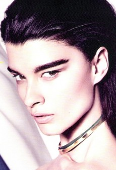 Crystal Renn Is an Ode to the Brow Brush on the Cover of Harper's Bazaar Brazil