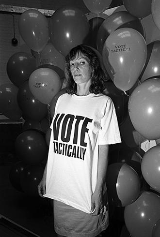 Katherine Hamnett in 1987 / Image: Getty