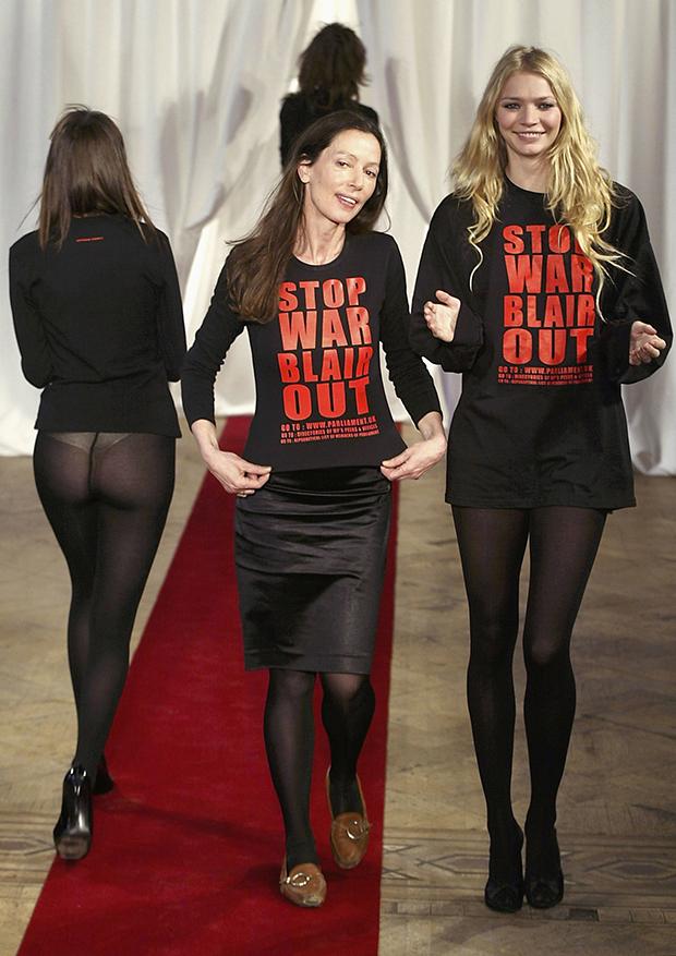 Katharine Hamnett Fall 2003 at London Fashion Week / Image: Getty