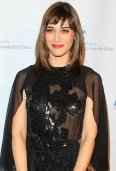 Lizzy Caplan's Slash Sleeve Reem Acra Spring 2014 Black Dress
