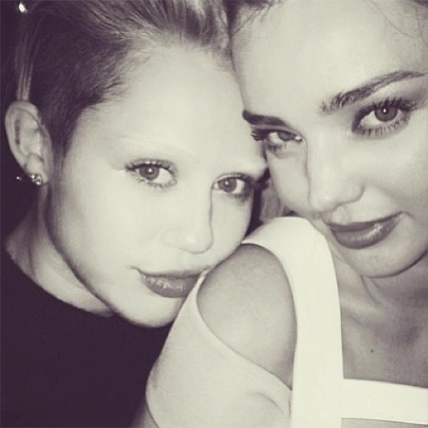 Miley Cyrus with Miranda Kerr / Image: Instagram
