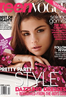 Selena Gomez on the Cover of Teen Vogue, Looking Like She Just Woke Up From a Nap