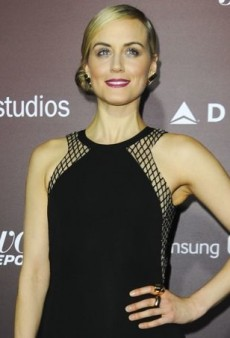 Taylor Schilling Gets Wrapped Up in Zuhair Murad's Netted Little Black Dress