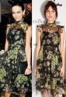 Seeing Double: Camilla Belle and Alexa Chung Experience a Floral Faux Pas in Erdem and More Matching Celebs