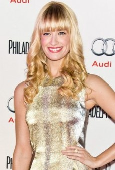 Beth Behrs Mixes Metallics in a Glimmering Talbot Runhof Dress