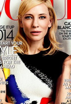 Cate Blanchett Covers US Vogue's January Issue in Celine
