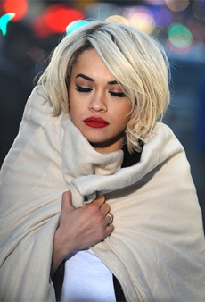 Rita Ora Shoots a DKNY Fragrance Campaign in New York City