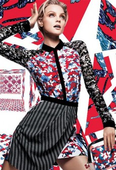Net-a-Porter Teases Peter Pilotto for Target Collaboration with Jessica Stam Preview Campaign