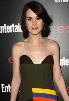 Michelle Dockery Parties in a Printed Prada Dress Before the SAG Awards
