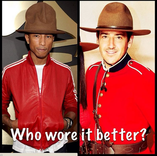 Pharrell Mountie Meme 2