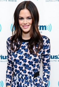 Rachel Bilson Winterizes Her A.L.C. Blue Floral Resort 2014 Dress